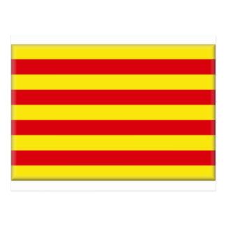 カタロニア(スペイン)の旗 ポストカード