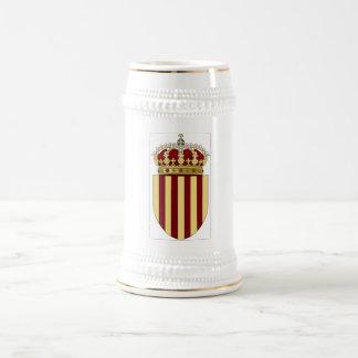 カタロニア(スペイン)の紋章付き外衣 ビールジョッキ