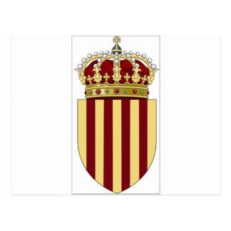 カタロニア(スペイン)の紋章付き外衣 ポストカード