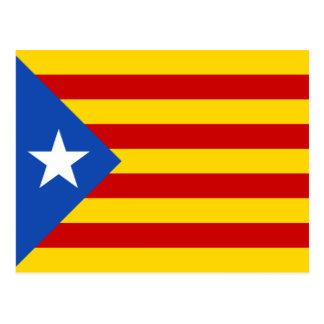 カタロニアEsteladaの旗 ポストカード