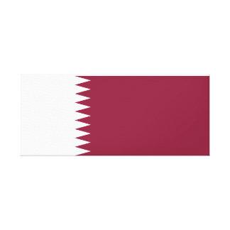 カタールの国民の世界の旗 キャンバスプリント