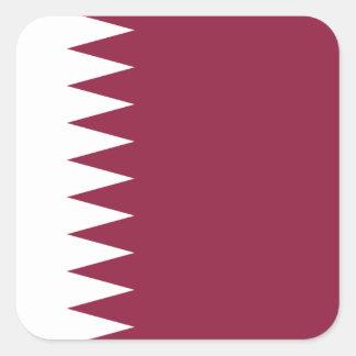 カタールの国民の世界の旗 スクエアシール