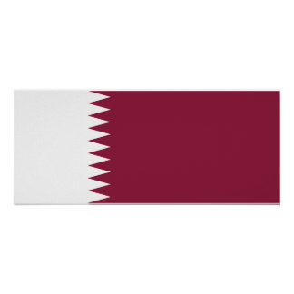 カタールの国民の世界の旗 ポスター