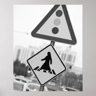 カタールの広告Dawhah、ドハ。 アラビアの歩行者2 ポスター