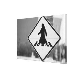 カタールの広告Dawhah、ドハ。 アラビアの歩行者3 キャンバスプリント