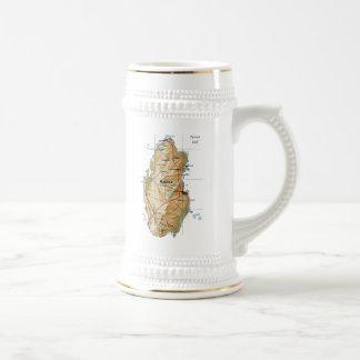 カタールの旗の~の地図のマグ ビールジョッキ
