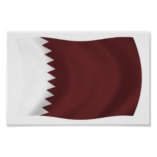 カタールの旗ポスタープリント ポスター