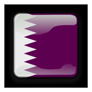 カタールの旗 ポスター