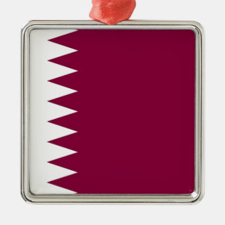 カタールの旗 メタルオーナメント