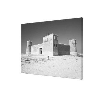 カタールのAl Zubarah。 AlZubaraの城砦(b.1938)今 キャンバスプリント