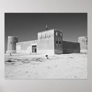 カタールのAl Zubarah。 AlZubaraの城砦(b.1938)今 ポスター