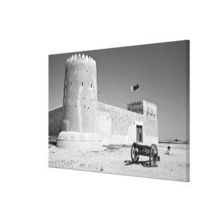 カタールのAl Zubarah。 AlZubarahの城砦(b.1938)今 キャンバスプリント