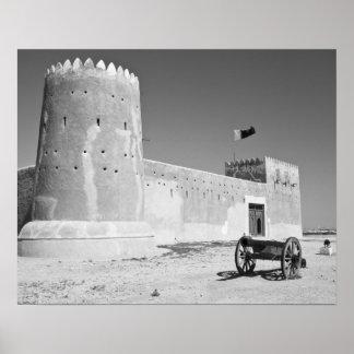 カタールのAl Zubarah。 AlZubarahの城砦(b.1938)今 ポスター