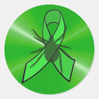 カチカチが付いているライム病の認識度のステッカー ラウンドシール