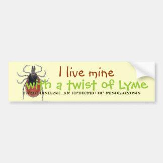 カチカチ、私は私の物Lymeのねじれと、Lyme D…住んでいます バンパーステッカー