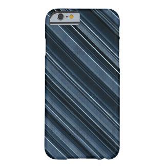 カッコいいおよび上品な青い縞 BARELY THERE iPhone 6 ケース