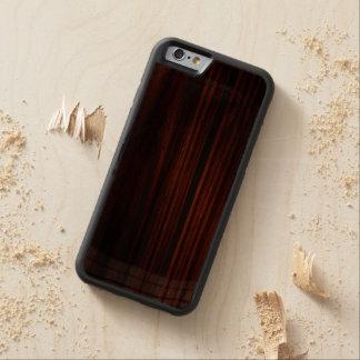 カッコいいによってニスをかけられる木製のiPhone 6のバンパーの箱 CarvedウォルナッツiPhone 6バンパーケース