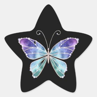 カッコいいの陰の虹によっては蝶が飛びます 星シール