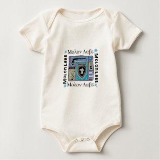 カッコいいのMolon Labeのロゴはモダンなデザインを着色しました ベビーボディスーツ