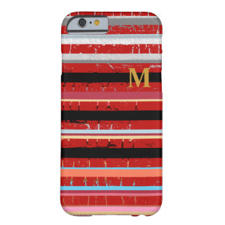 カッコいいは習慣のイニシャルと縞で飾ります BARELY THERE iPhone 6 ケース