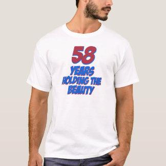 カッコいい58歳の誕生日のデザイン Tシャツ