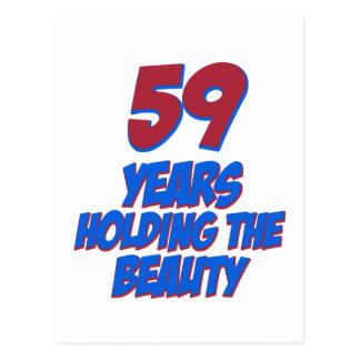 カッコいい59歳の誕生日のデザイン ポストカード