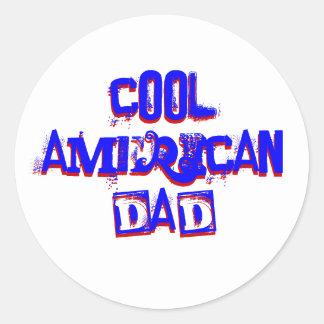 カッコいい|アメリカ|パパ|II 丸形シール・ステッカー