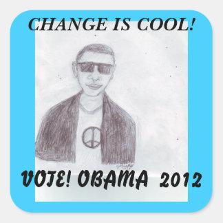 カッコいい-オバマ2012年 スクエアシール