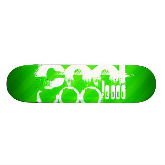 カッコいい; ネオン緑のストライプ 20.6CM スケートボードデッキ