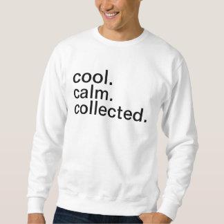 カッコいい。 平静。 集められる スウェットシャツ
