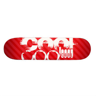 カッコいい; 深紅の赤のストライプ 21.6CM オールドスクールスケートボードデッキ