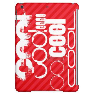カッコいい; 深紅の赤のストライプ iPad AIRケース