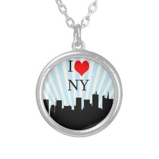 カッコいいI愛ハートのニューヨークのデザイン シルバープレートネックレス