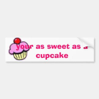 カップケーキあなたの甘い バンパーステッカー