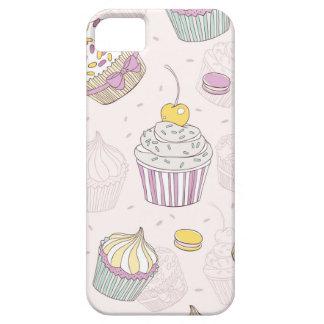 カップケーキおよびキャンデー iPhone SE/5/5s ケース