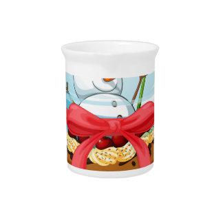 カップケーキおよび雪だるまのinsiの使い捨て可能なコップ ピッチャー