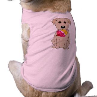カップケーキが付いている甘い犬のイエロー・ラブラドール・レトリーバー ペット服