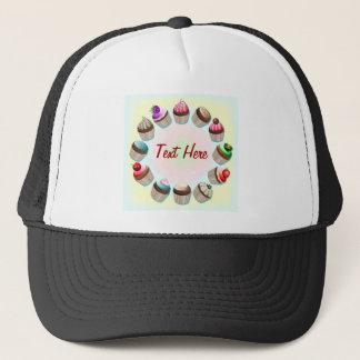 カップケーキのカラフルな円の帽子 キャップ