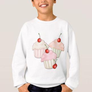 カップケーキのトリオ スウェットシャツ