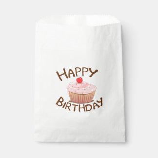 カップケーキのハッピーバースデー フェイバーバッグ