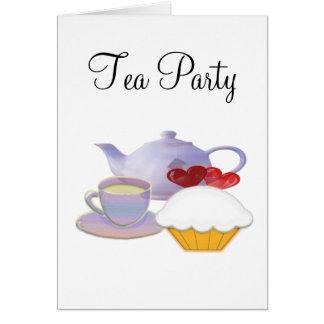 カップケーキのハートとの茶時間 カード