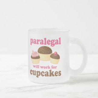 カップケーキのパラリーガル フロストグラスマグカップ