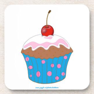 カップケーキのピンクのPikjaの点 コースター