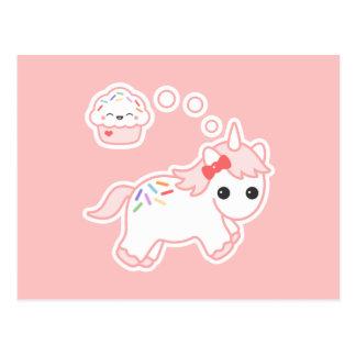 カップケーキの夢のユニコーン ポストカード