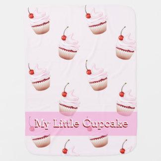 カップケーキの女の赤ちゃんのベビーカー用毛布 ベビー ブランケット