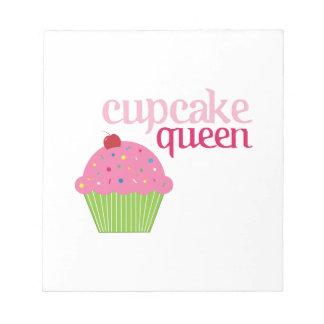 カップケーキの女王 ノートパッド