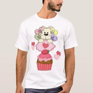 カップケーキの子犬のバレンタイン Tシャツ