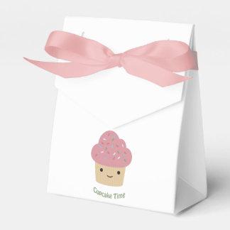 カップケーキの時間! かわいいピンクのカップケーキ フェイバーボックス