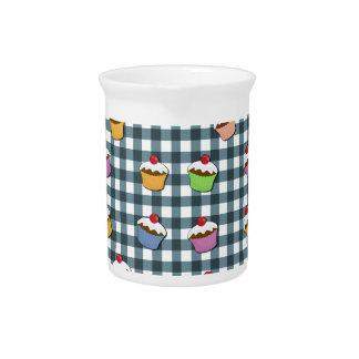 カップケーキの格子縞パターン ピッチャー