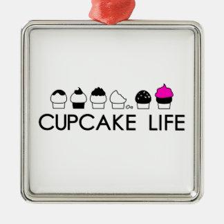 カップケーキの生命 メタルオーナメント